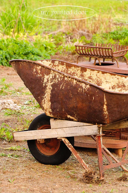 old wheelbarrow for my garden