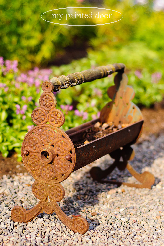 vintage newspaper log roller to plant herbs in