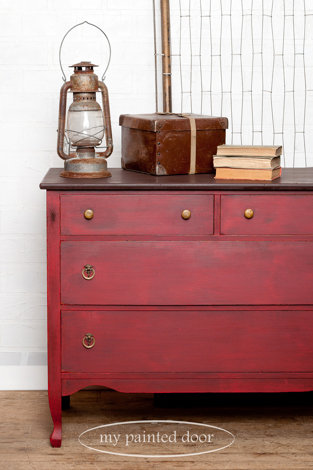 Dresser painted in Miss Mustard Seed's Milk Paint in Tricycle