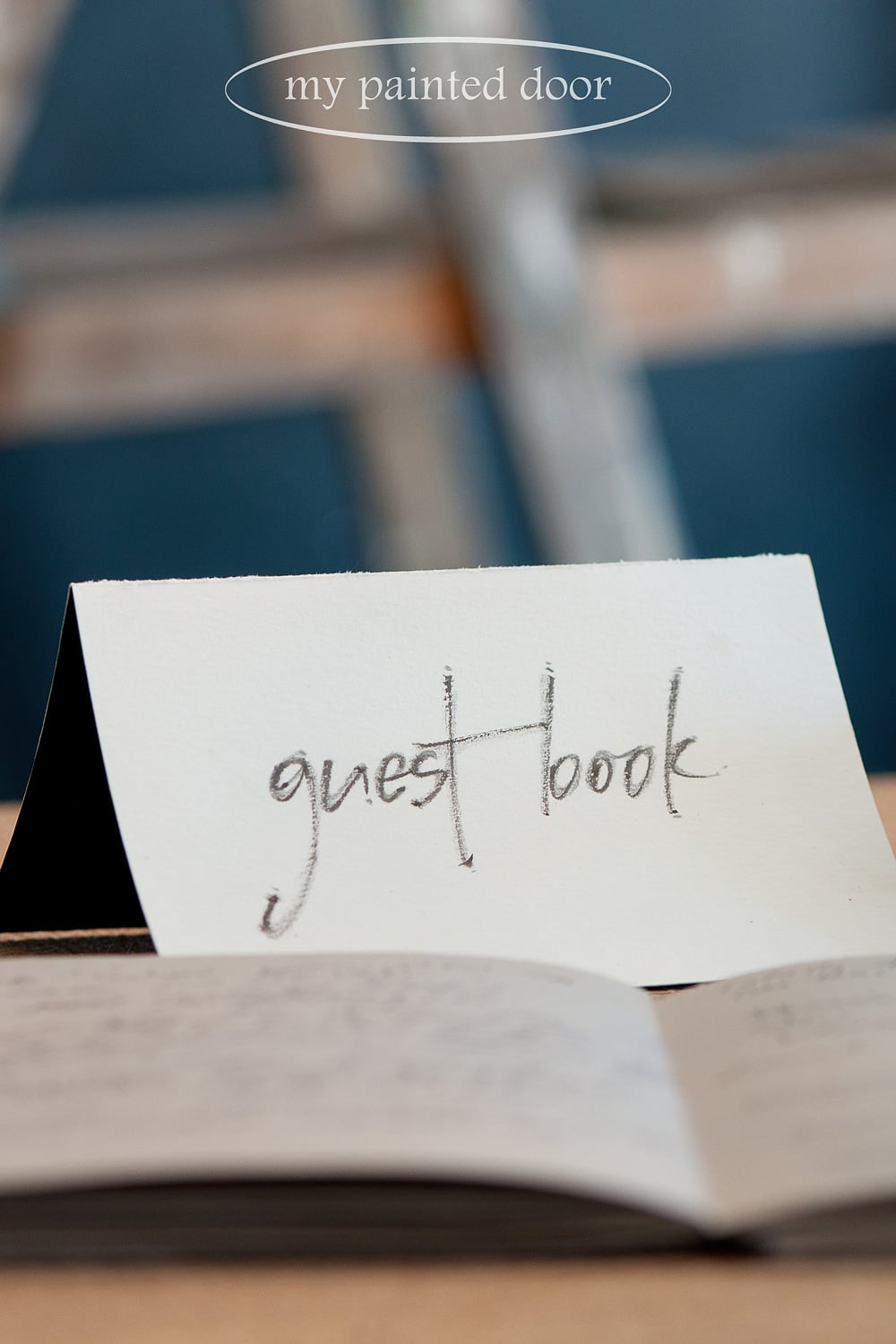 Great lettering for a guest book