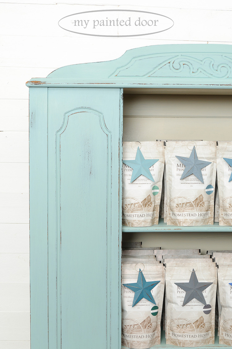 The perfect beach colour - Hutch painted in Loyalist Homestead House Milk Paint