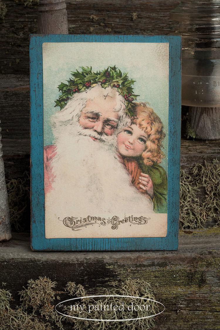 M  ilk Paint Workshop - vintage postcard blocks