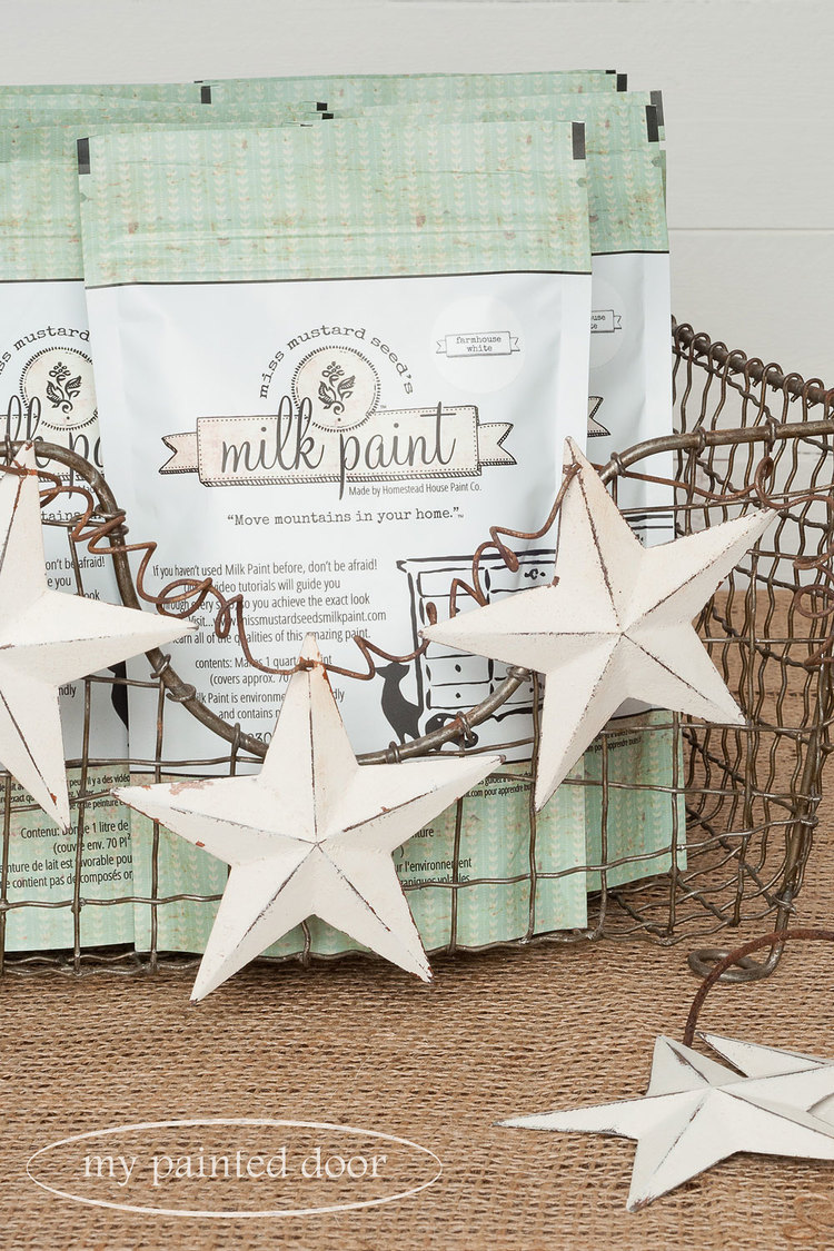 It's the perfect white! Miss Mustard Seed's Milk Paint in Farmhouse White has arrived.