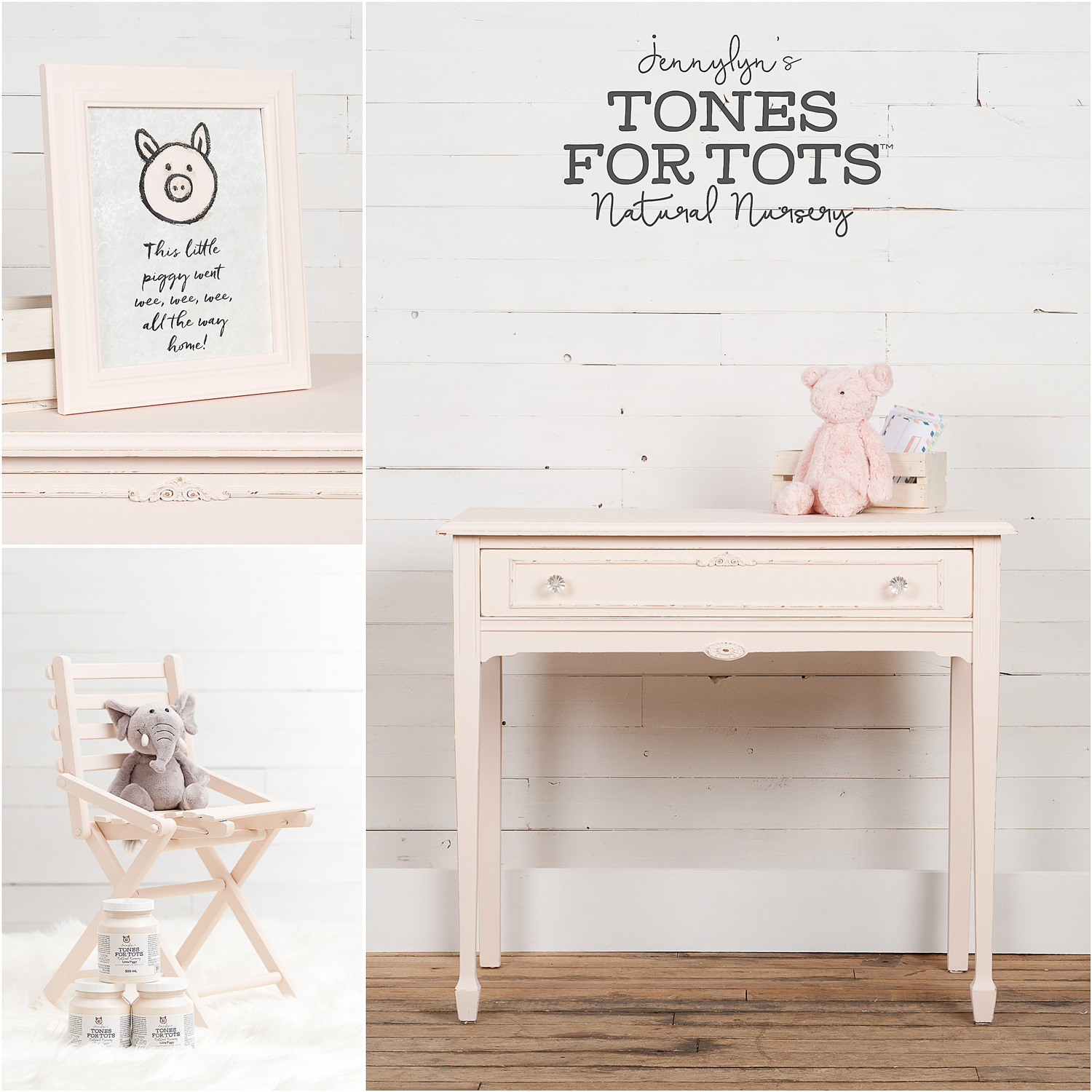 Table and Chair Painted in Little Piggy Fusion Mineral Paint