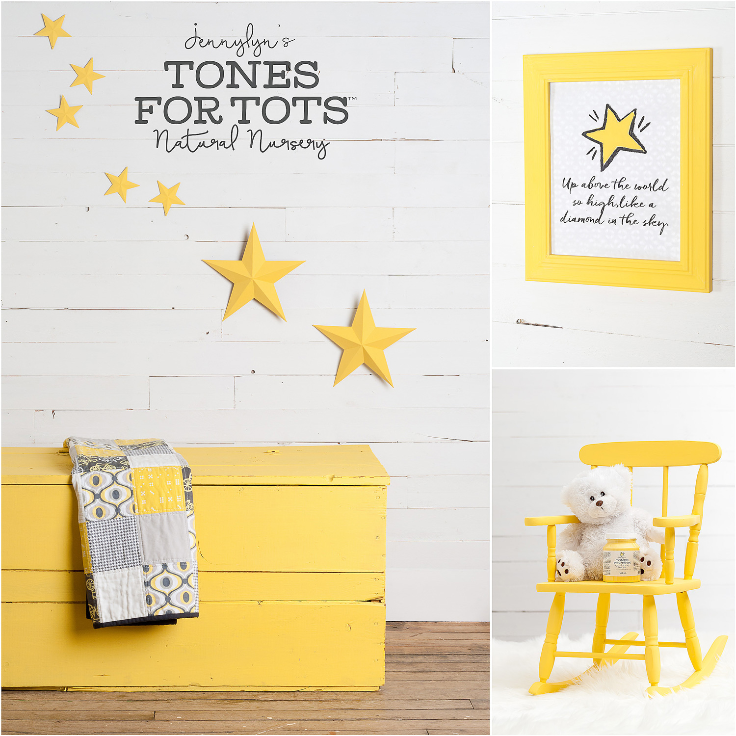 Trunk and Rocking Chair Painted in Little Star Fusion Mineral Paint