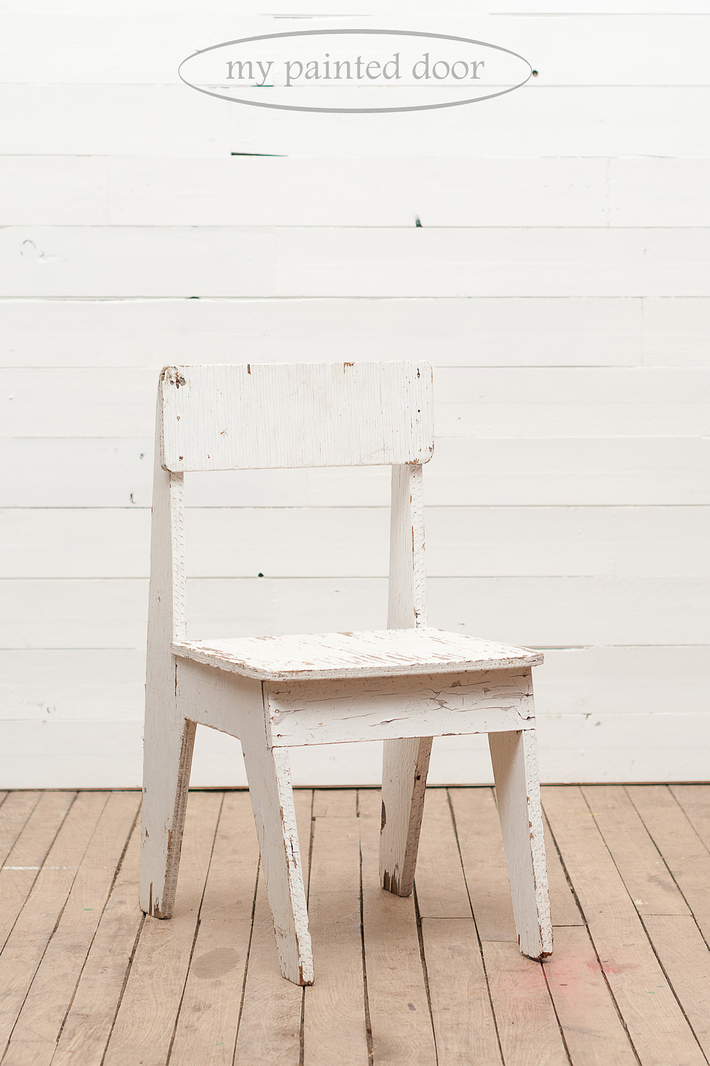 Before photo of a chair painted in Jennylyn's Tones for Tots by Fusion Mineral Paint