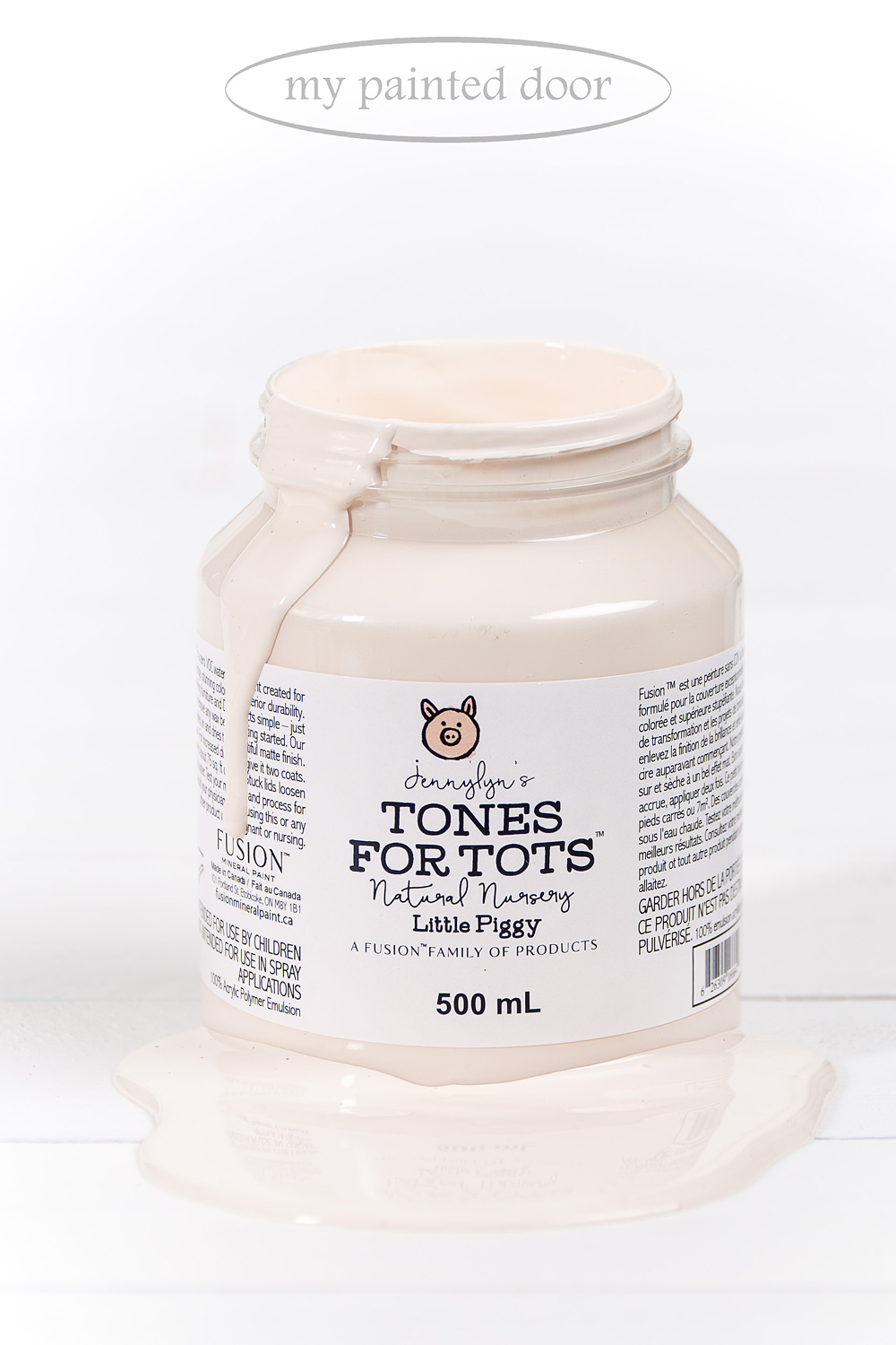 Now available at My Painted Door - Little Piggy from the Jennylyn's Tones for Totes Collection of Fusion Mineral Paint.