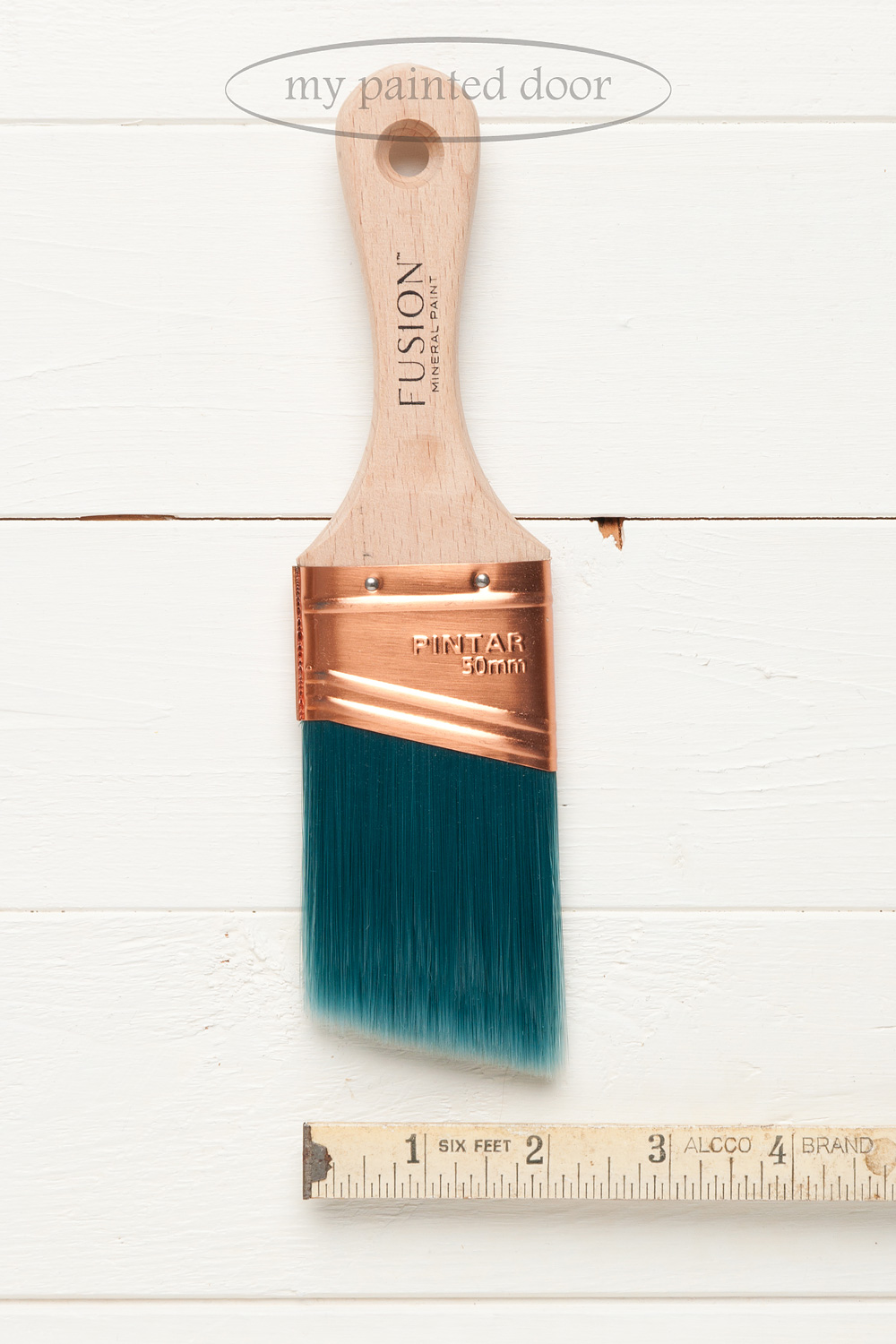 """Fusion Mineral Paint 2"""" synthetic angled brush is now available at My Painted Door."""
