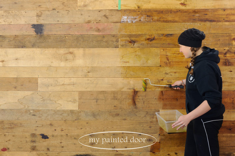 Hemp Oil works great on wood walls!