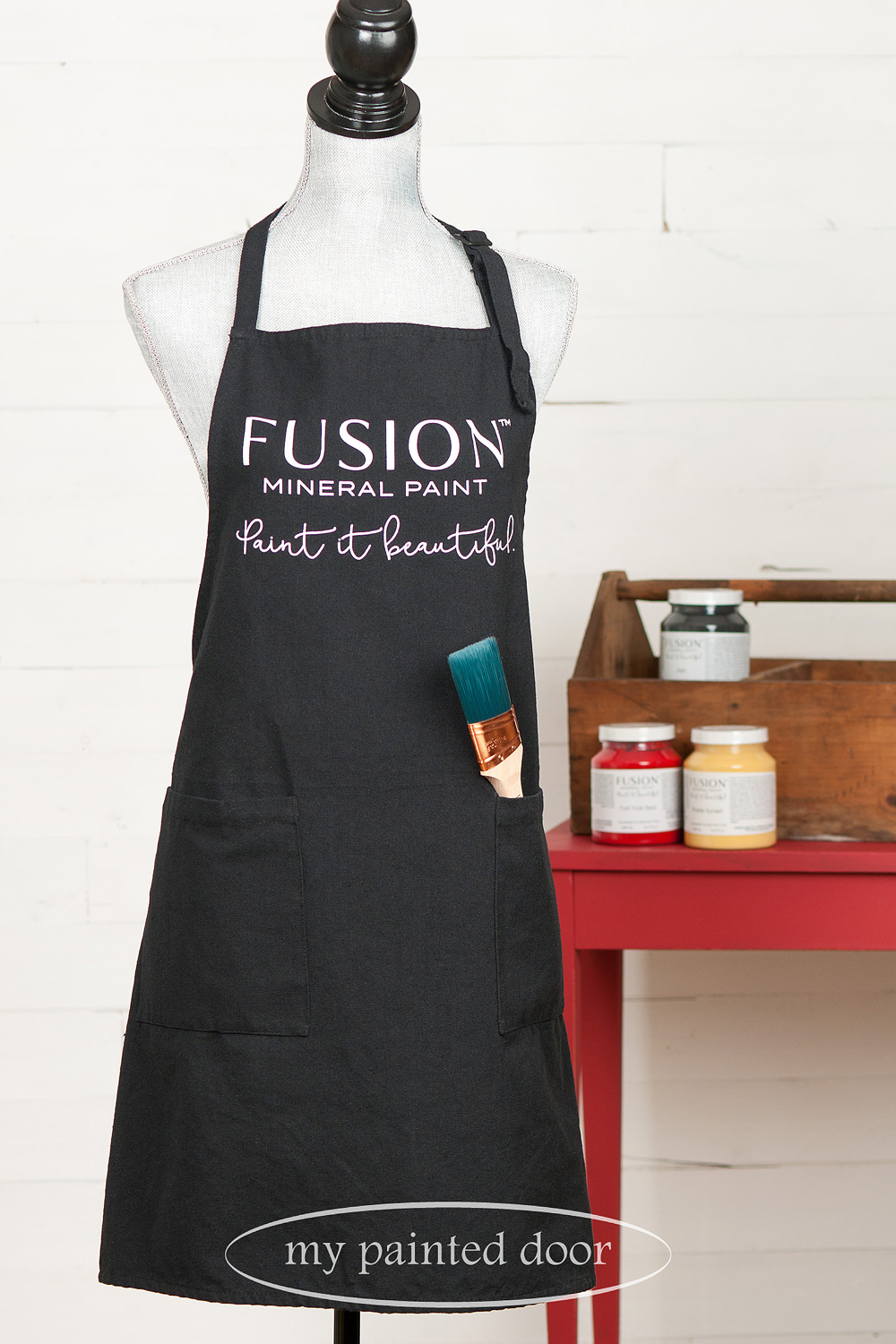 Fusion Mineral Paint apron available at My Painted Door