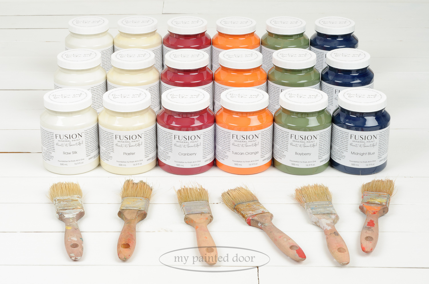 13 New Fusion Mineral Paint colours to choose from! Here are six new colours in the Classic Fusion Line. Available at My Painted Door!