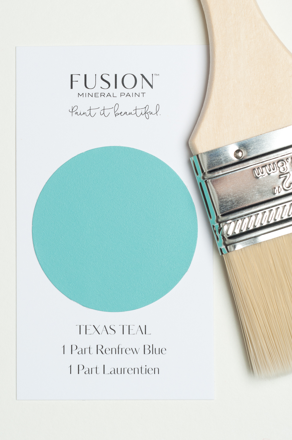 """By mixing Renfrew Blue and Laurentien Fusion Mineral Paint,you can make this beautiful Texas Teal colour. Fusion has created 32 wonderful """"recipe"""" cards for mixing custom colours. You can see all 32 recipes on my website."""