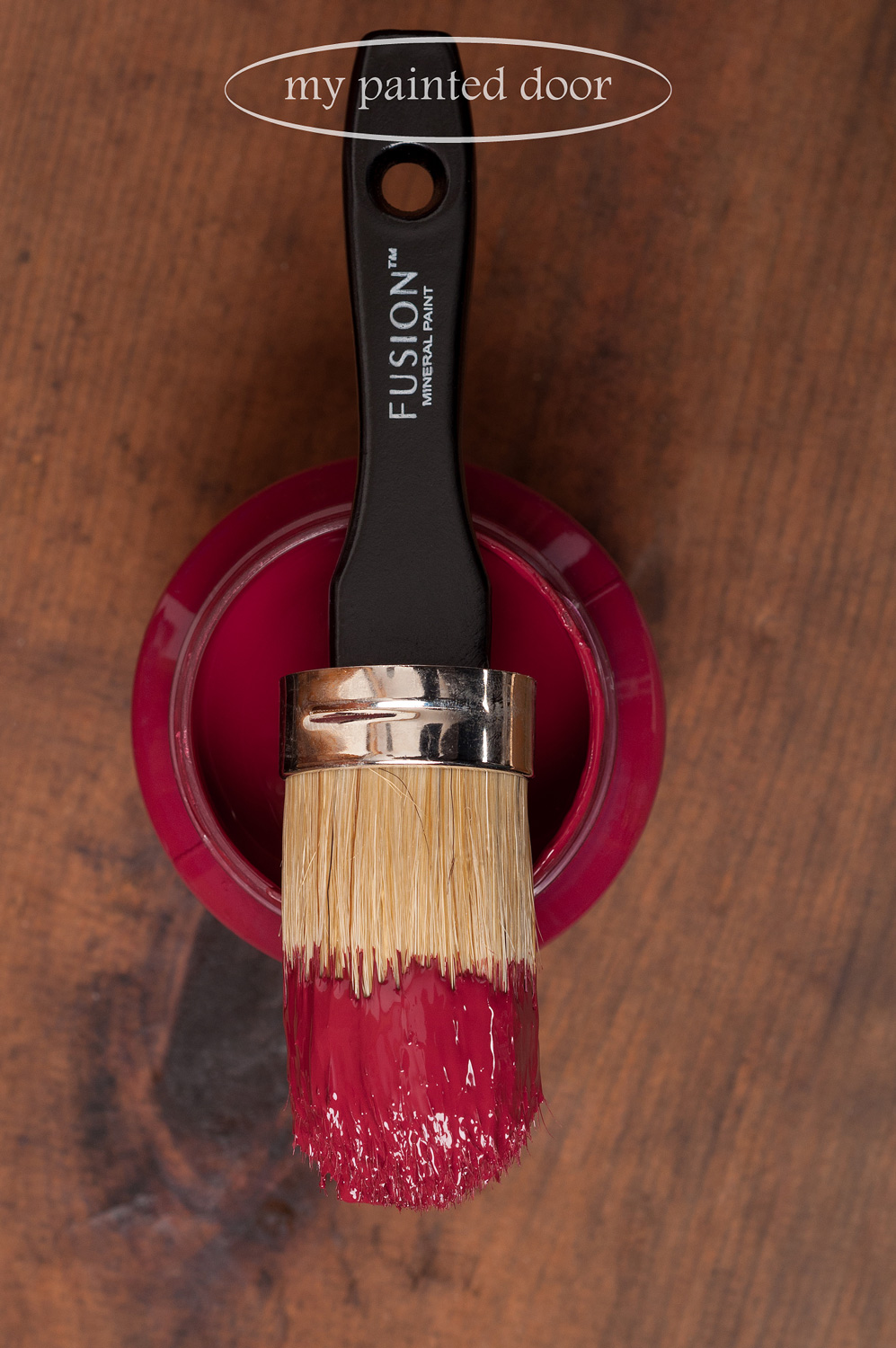 Fusion Mineral Paint in the colour Cranberry.