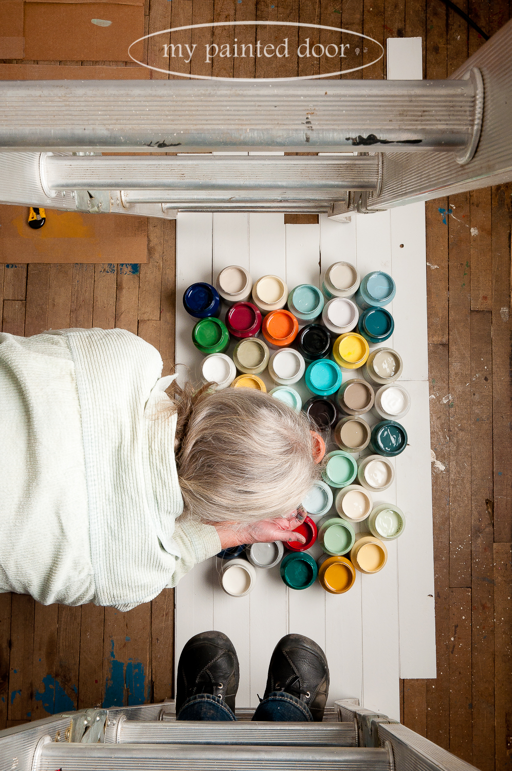 Fusion Mineral Paint - behind the scenes photography