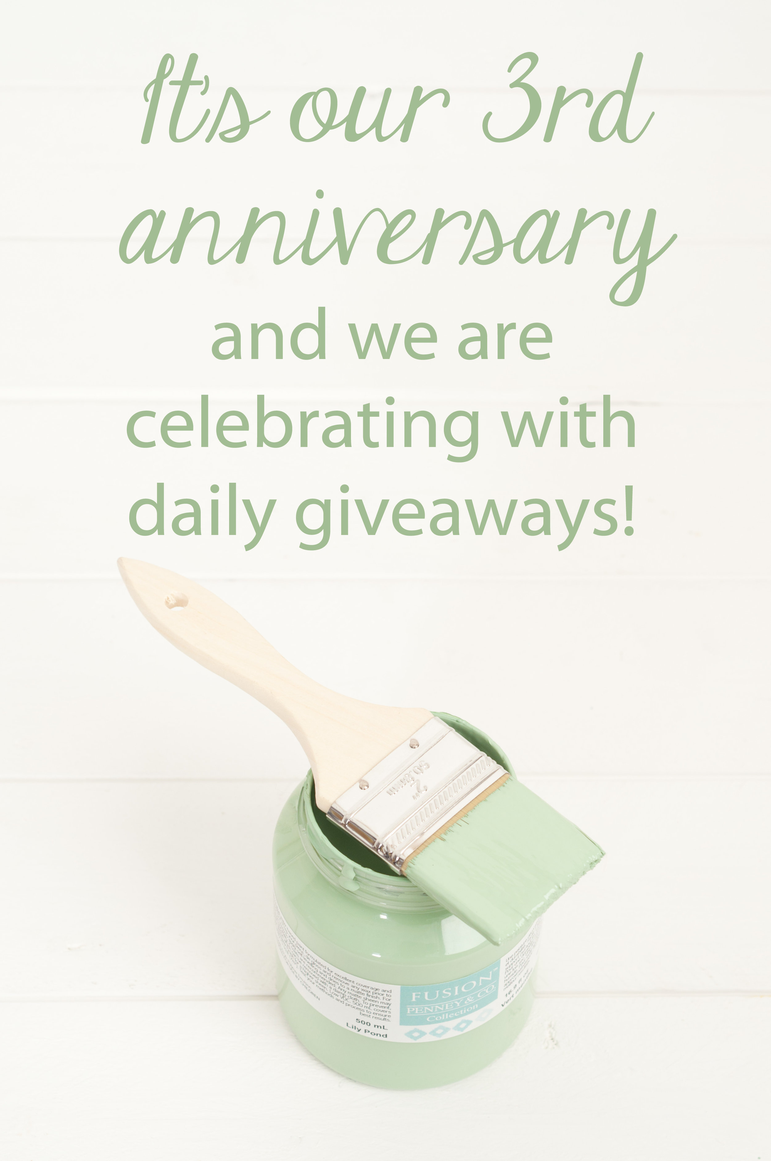 My Painted Door is having 14 days of giveaways to celebrate our 3rd Anniversary!
