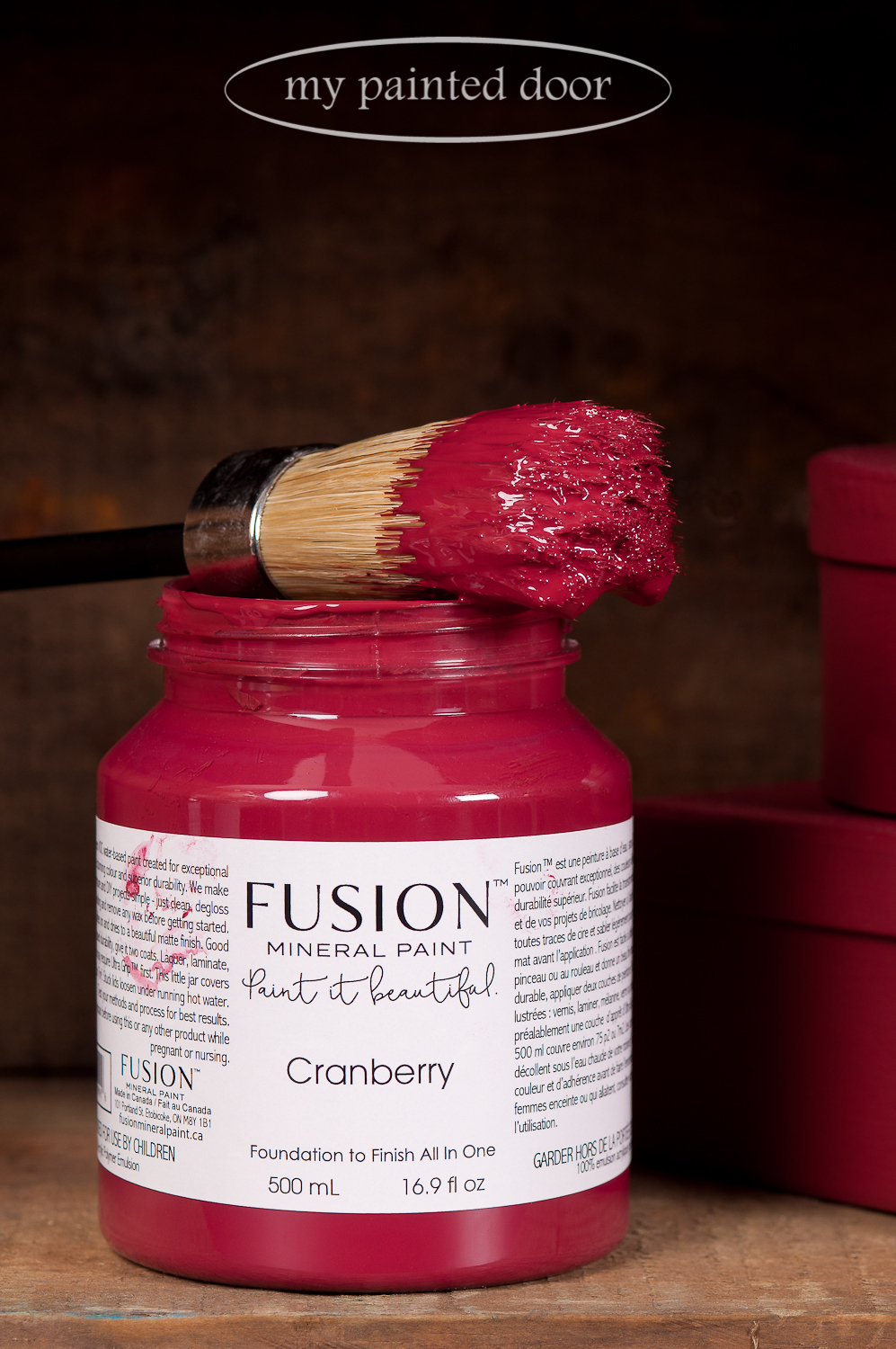 Cranberry is another new Fusion Mineral Paint colour. It's a natural luscious burgundy red reminiscent of cranberries.