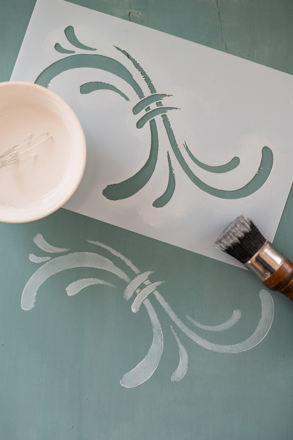 Miss Mustard Seed's hand painted stencils are available at My Painted Door. This stencil is the Susan design.