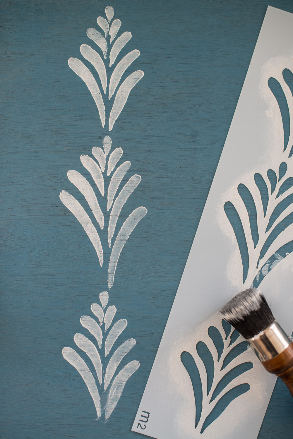 Miss Mustard Seed's hand painted stencils are available at My Painted Door. This stencil is the Linda design.