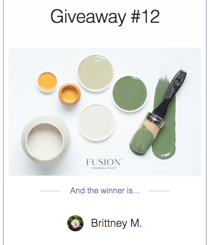 Winner of My Painted Door's Giveaway #14