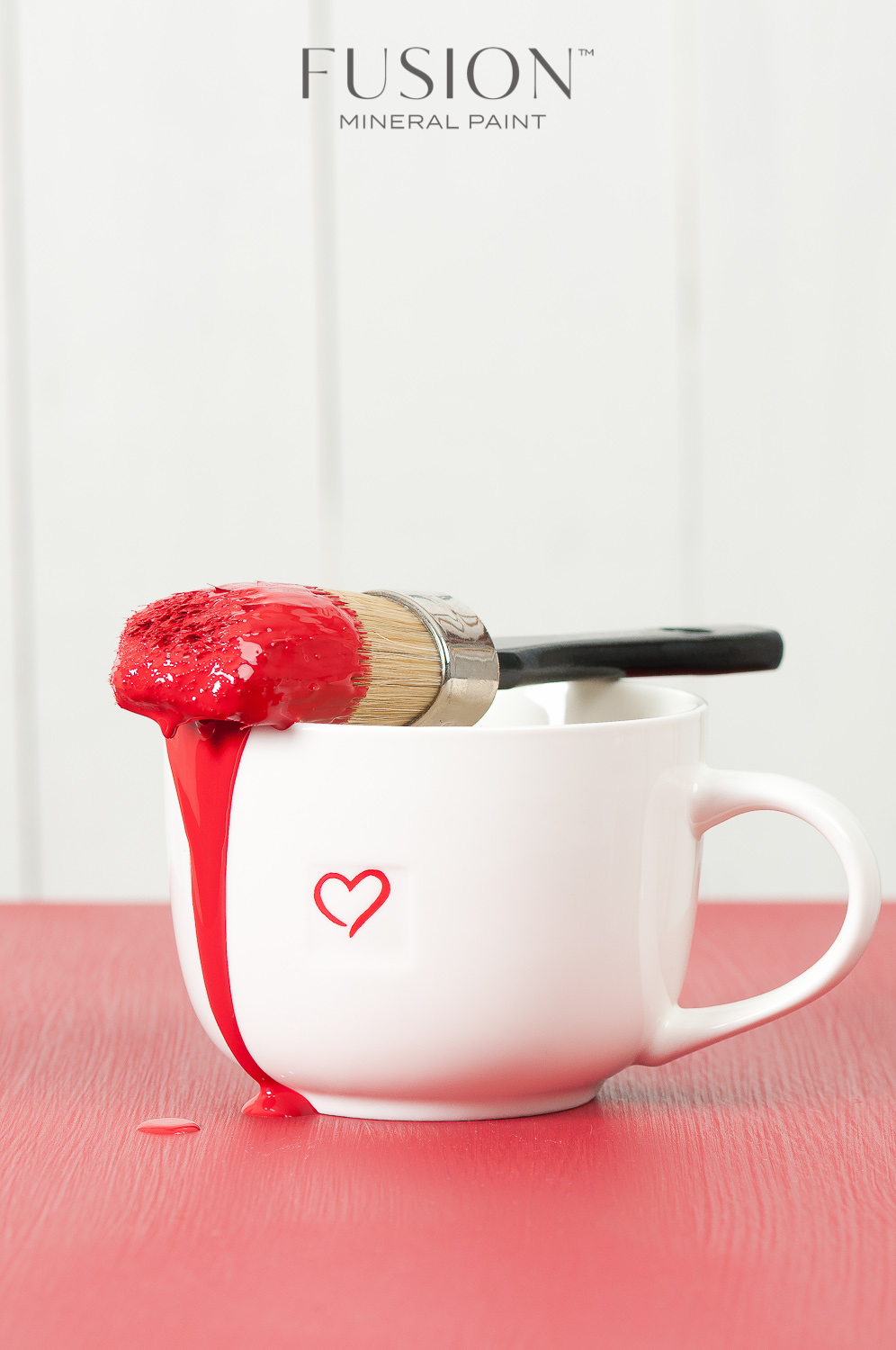Fusion Mineral Paint in Fort York Red is the perfect colour for Valentine's Day!