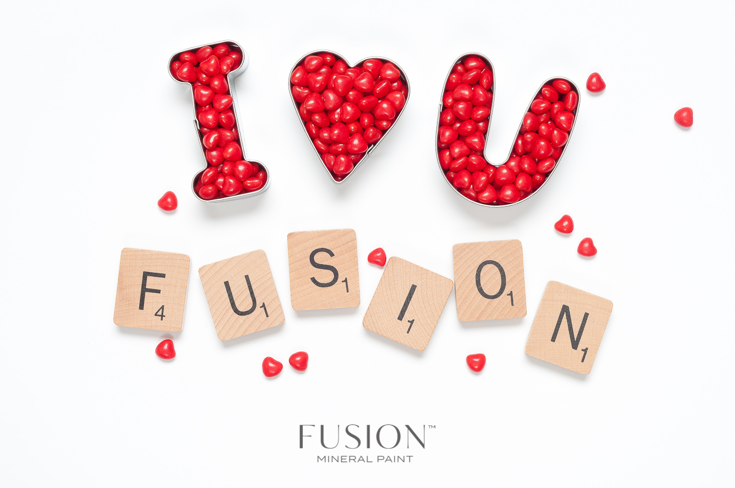 Fusion Mineral Paint has the perfect colours for all your Valentine's Day crafts!