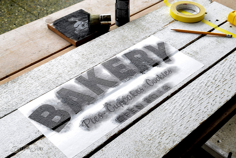 Bakery stencil from Funky Junk Old Sign Stencils available at My Painted Door