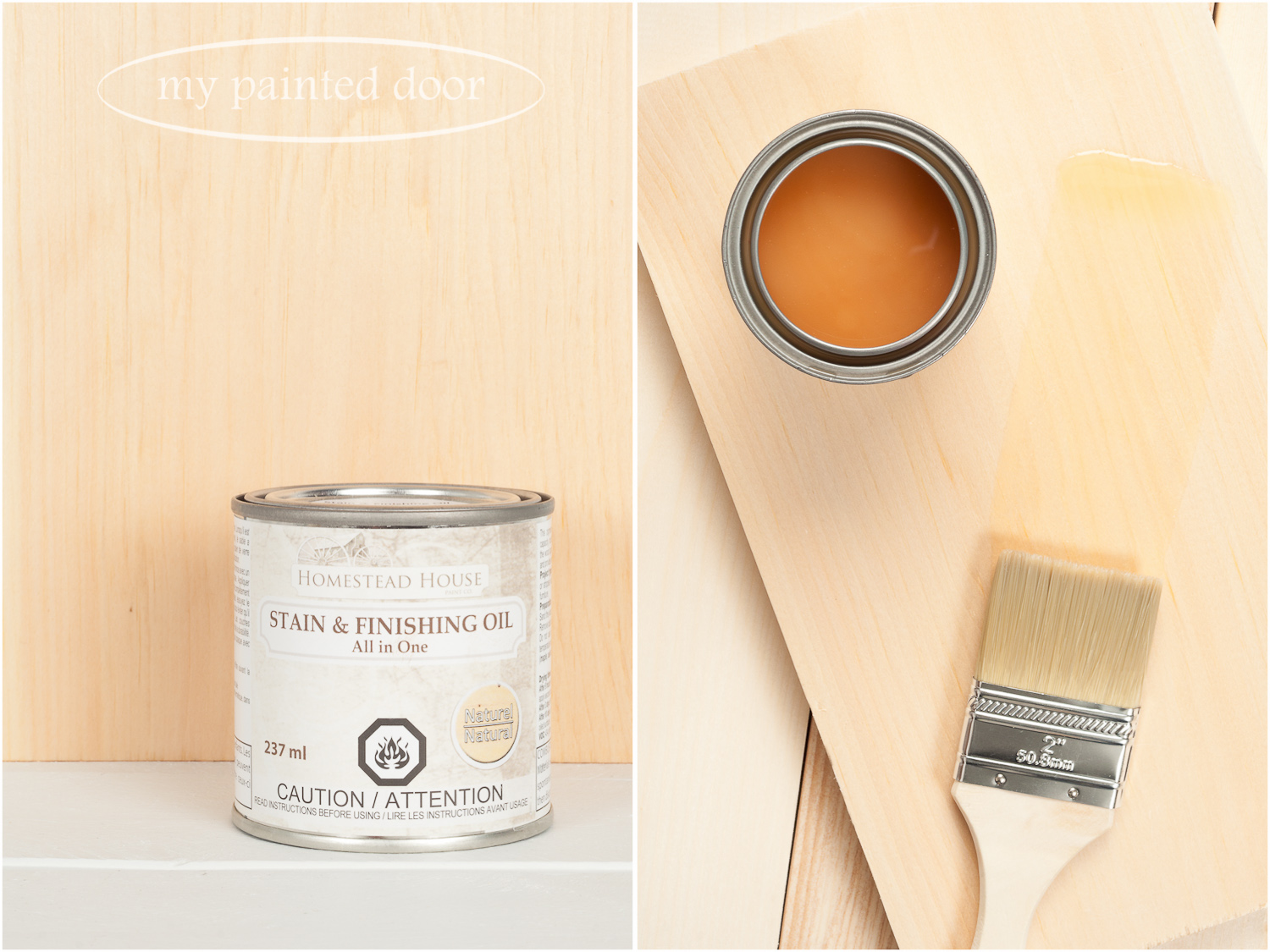 Homestead House Stain and Finishing Oil All in One - Natural - available online at My Painted Door