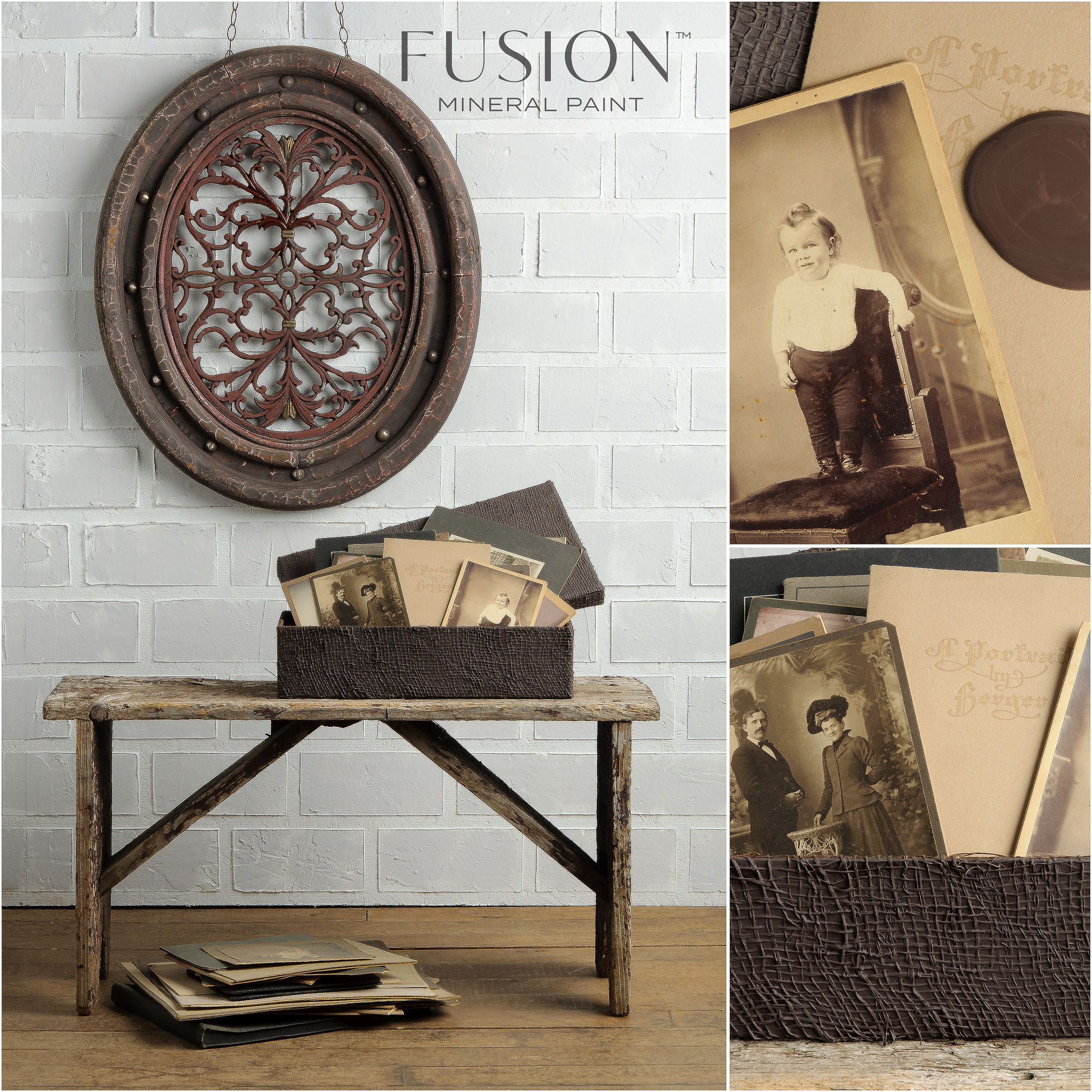 Wall Art and Box Painted in Chocolate Fusion Mineral Paint