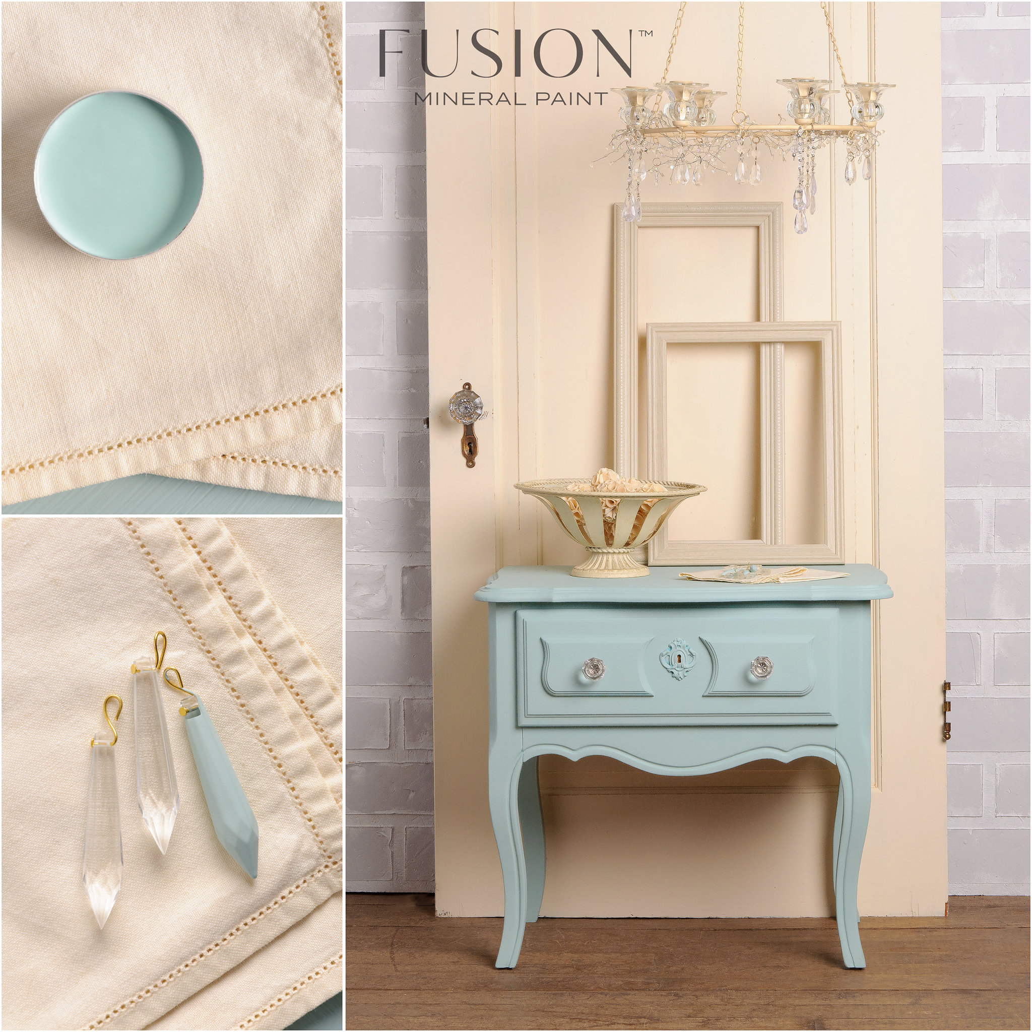 End Table Painted in Inglenook Fusion Mineral Paint