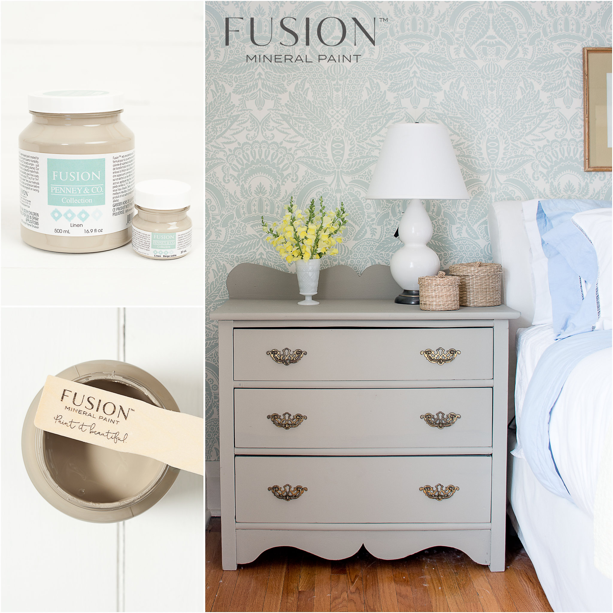 Dresser Painted in Linen Fusion Mineral Paint