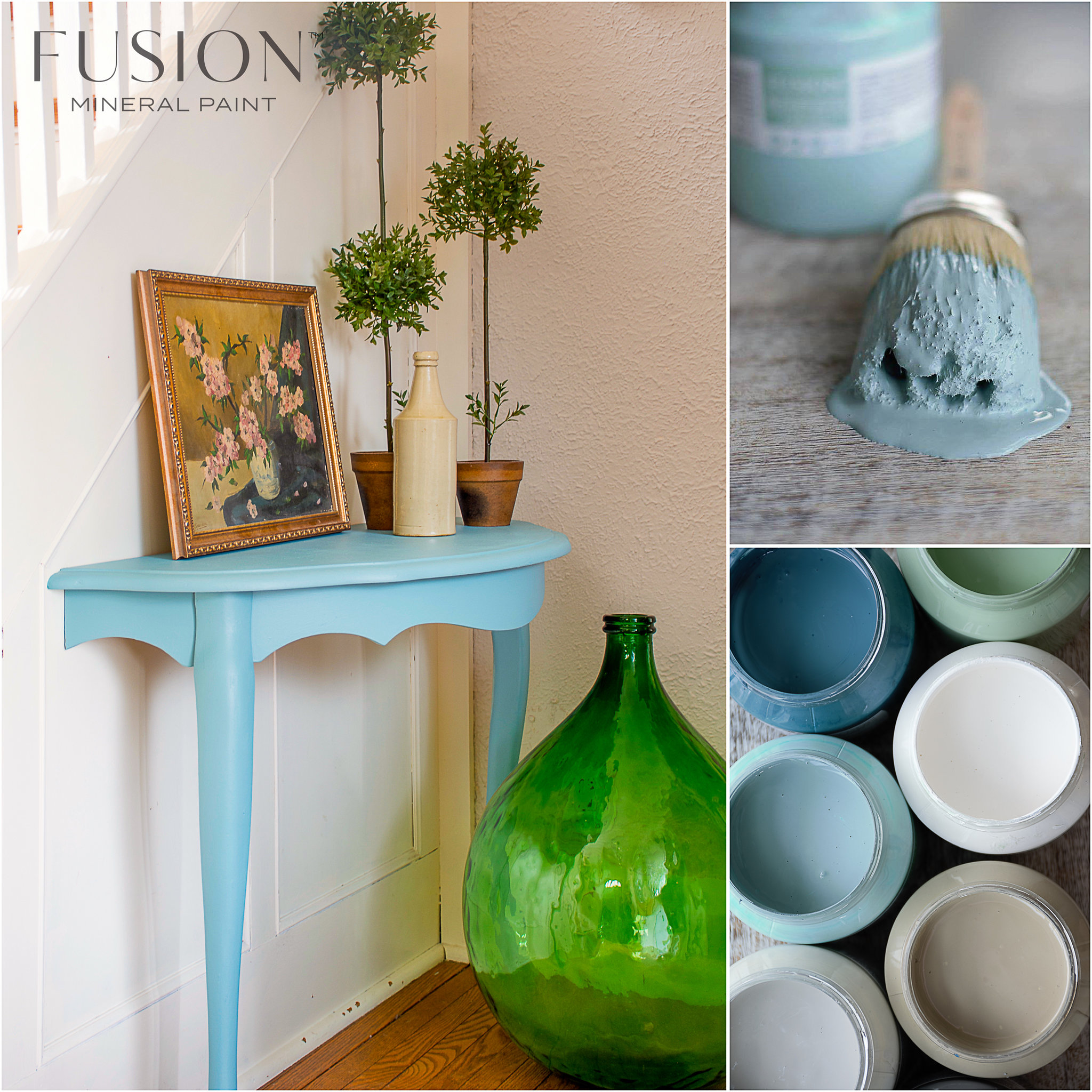 Table Painted in Heirloom Fusion Mineral Paint