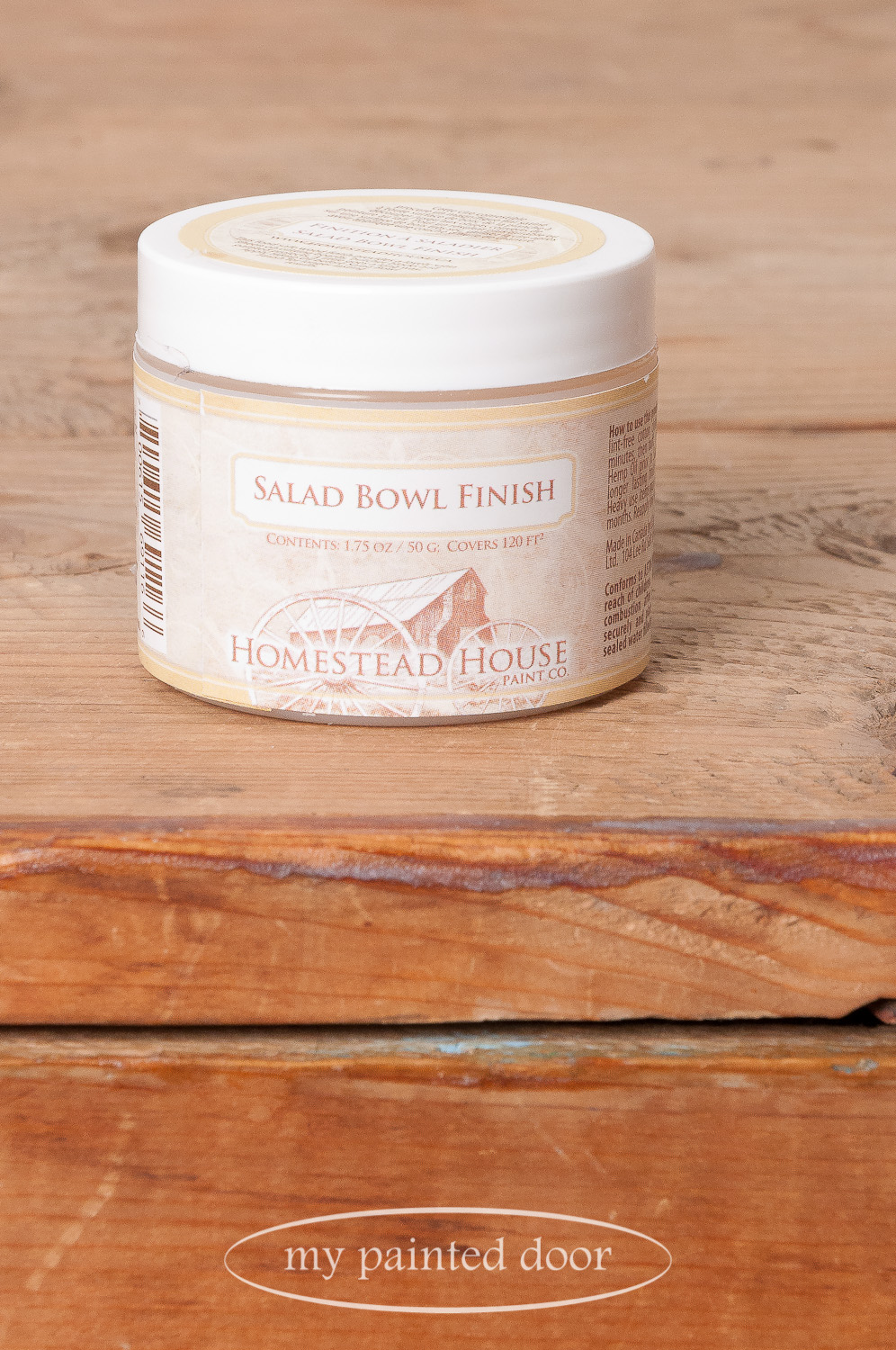 Homestead House Salad Bowl Finish is the perfect wax to use as a paint resist for distressing Fusion Mineral Paint.