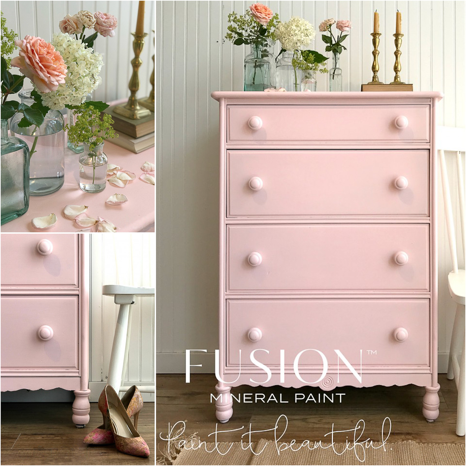 Buy Fusion Mineral Paint in the colour English Rose online at My Painted Door.
