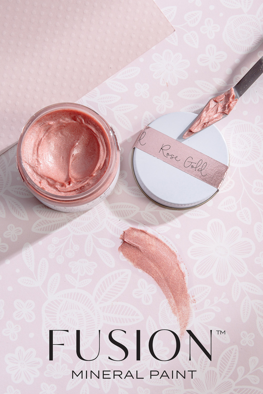 Rose Gold Furniture Wax by Fusion Mineral Paint - available online at My Painted Door