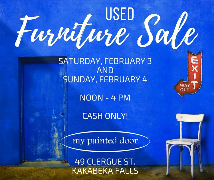 Used furniture sale this weekend!