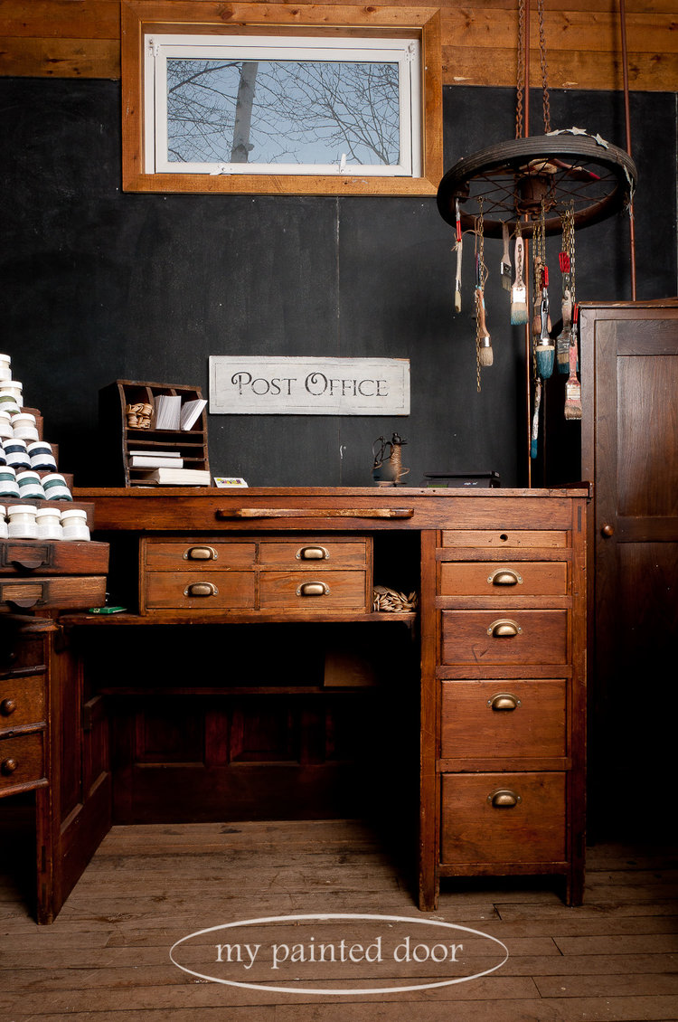 $12 flat rate shipping to the U.S. and Canada ■ My antique post office desk