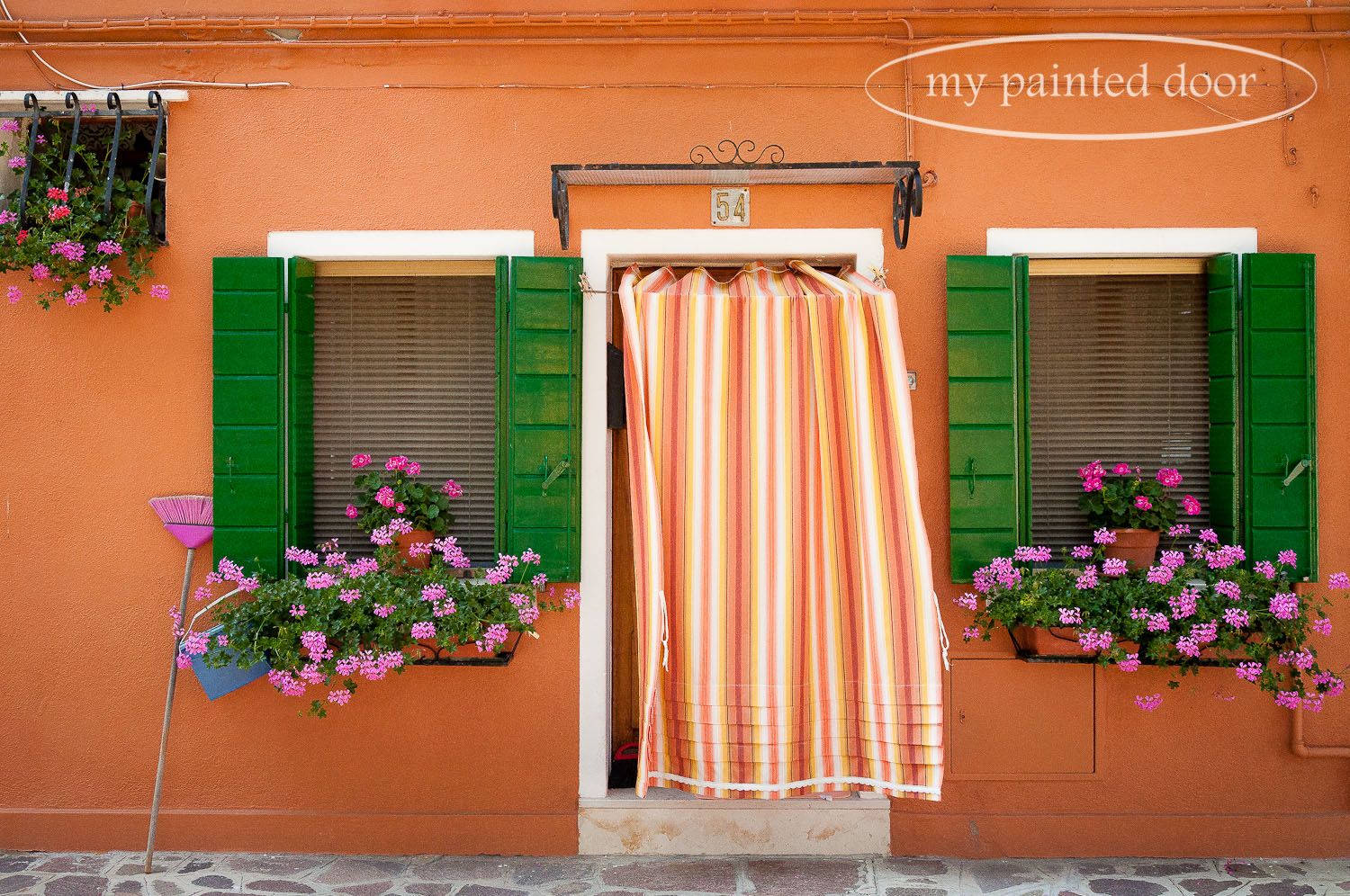Colourful home in Burano, Italy.
