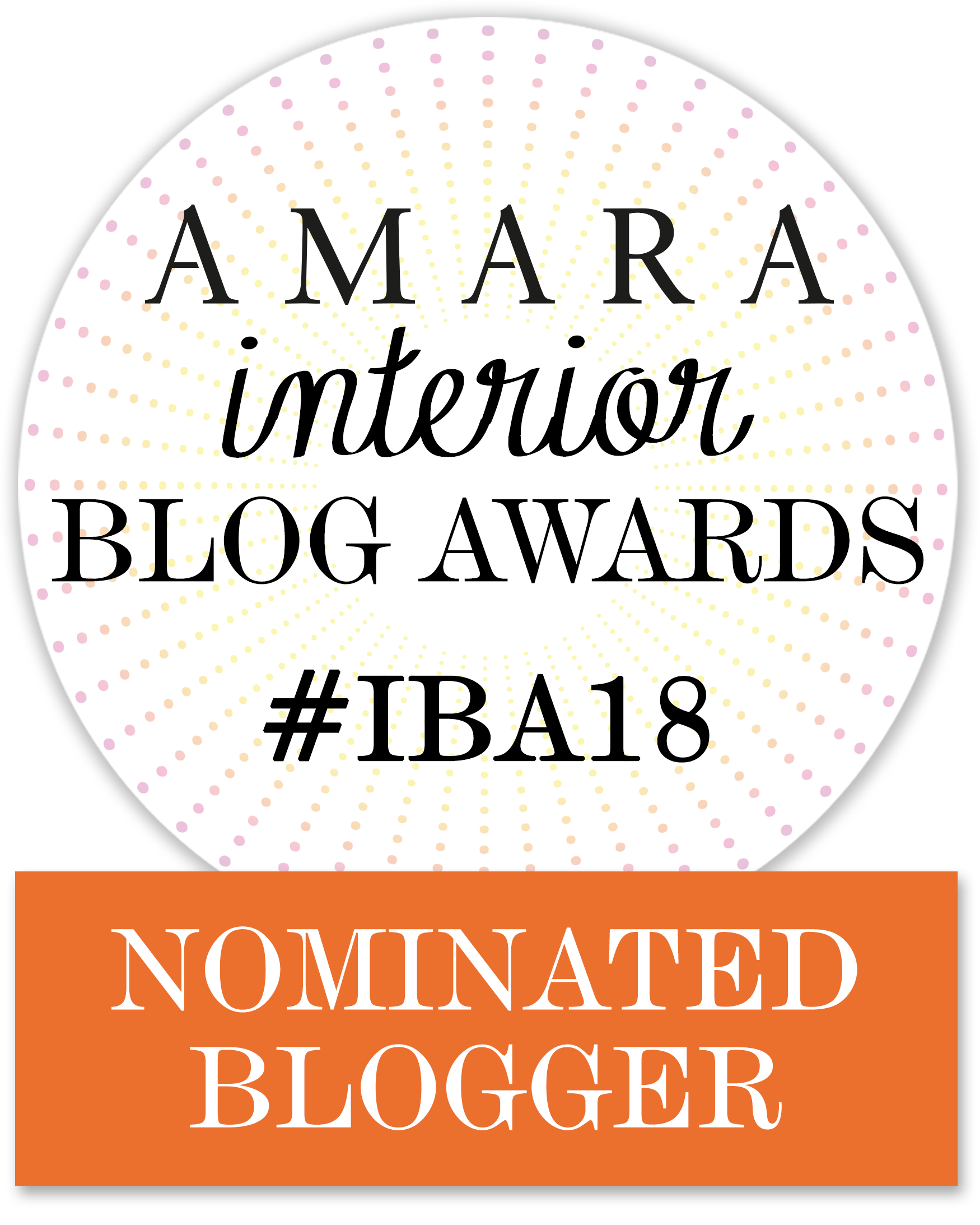 I've been nominated for the Amara Interior Blog Awards!