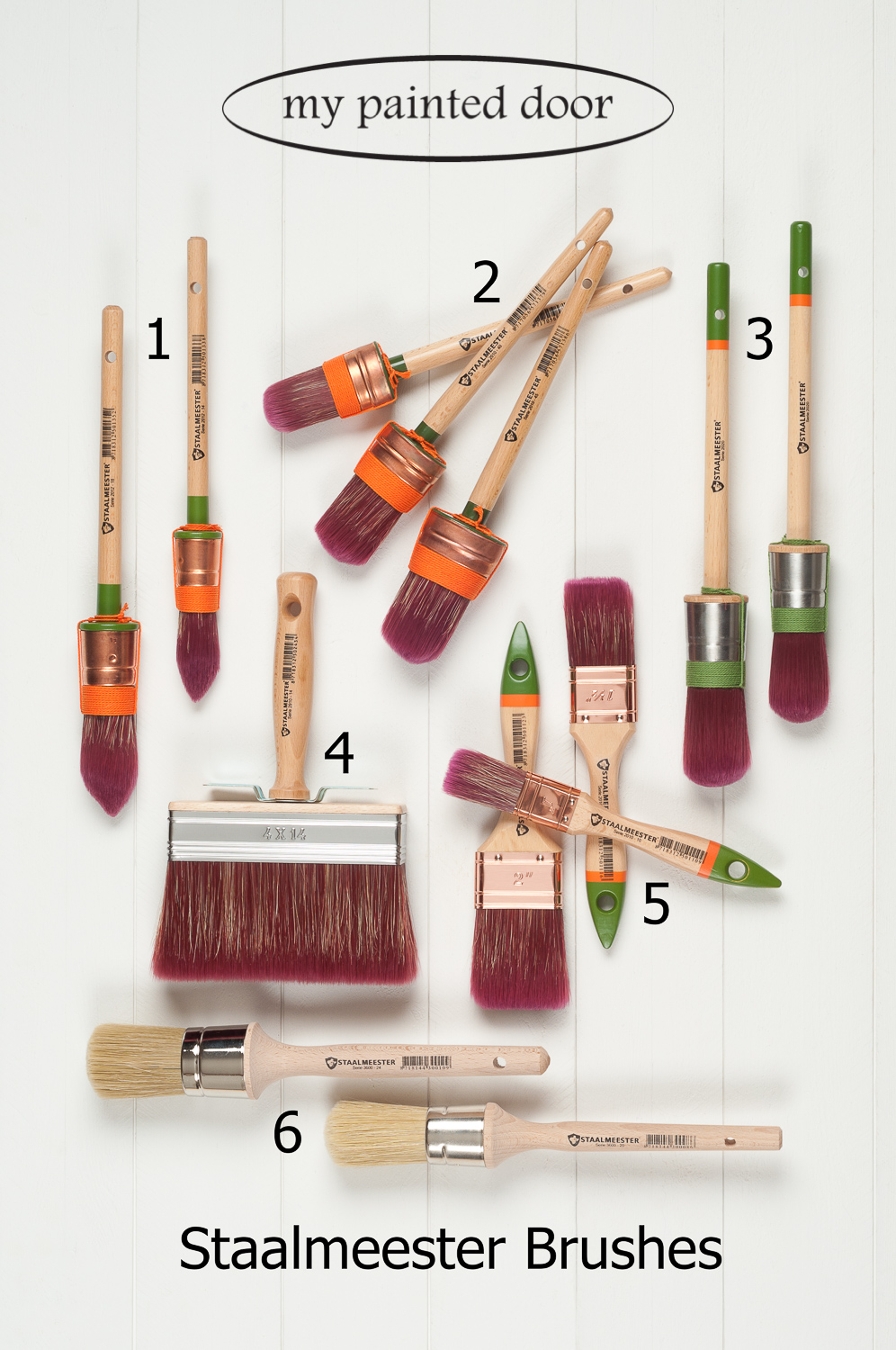 Staalmeester Brushes are perfect for furniture painting!