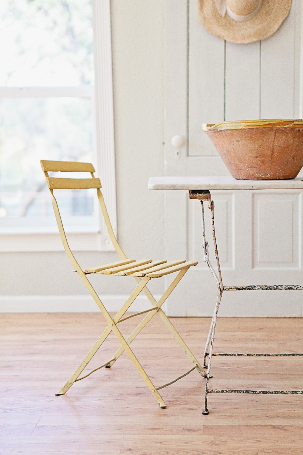 Chair Painted in Miss Mustard Seed's Milk Paint in the Colour Mustard Seed Yellow