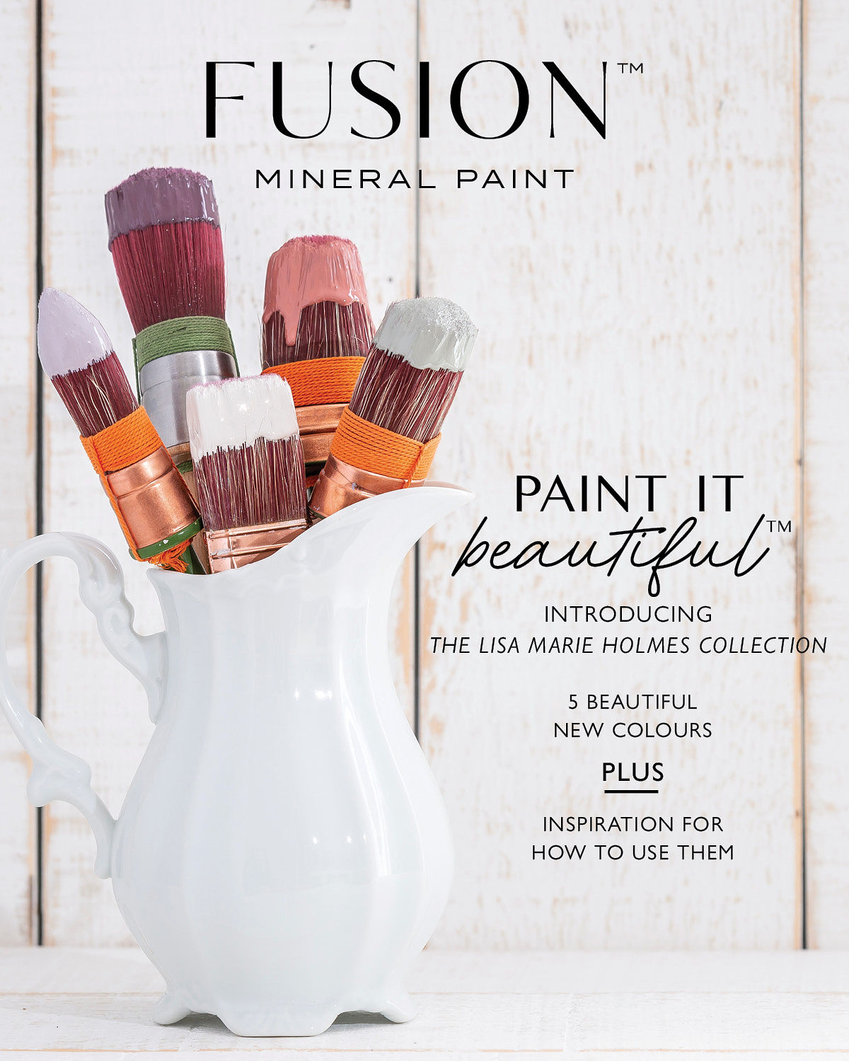 Fusion Magazine Featuring the New Fusion Mineral Paint Colours - Lisa Marie Holmes Collection