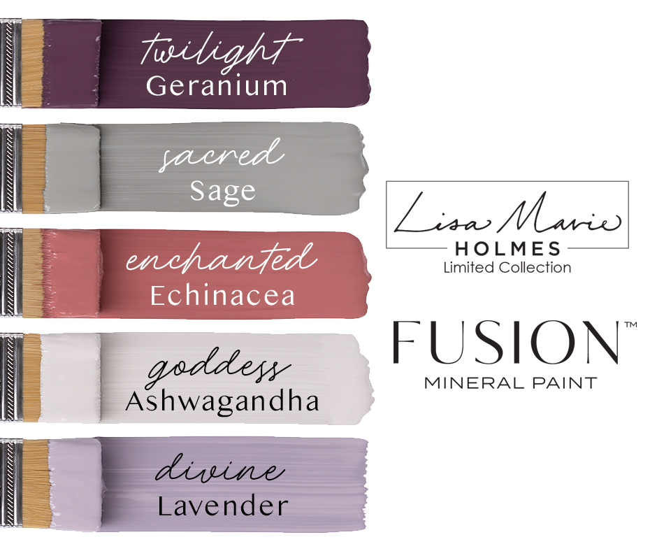 Five New Fusion Mineral Paint Colours - Lisa Marie Holmes Collection