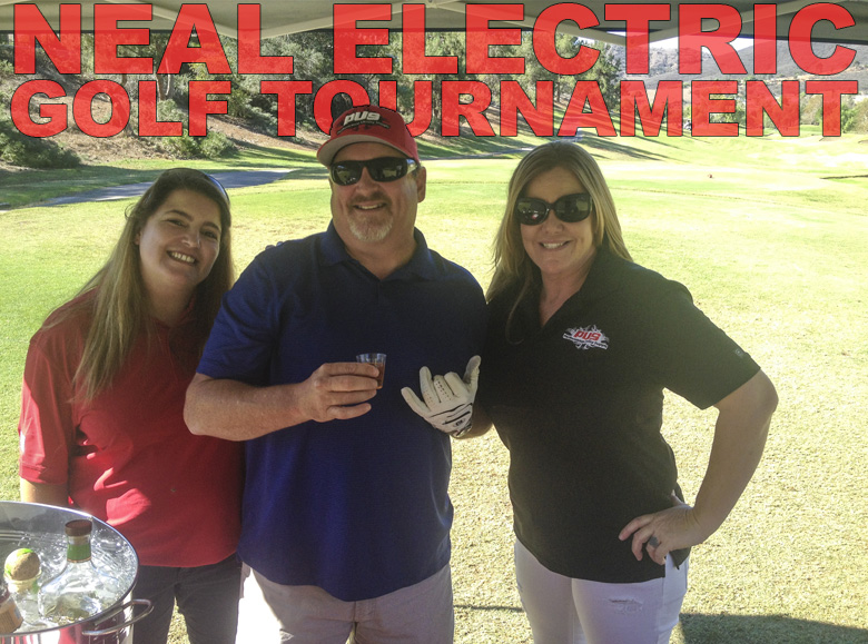 Cat and Diane with Bob Garoutte from Neal Electric