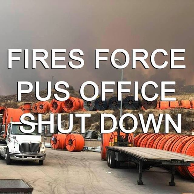 Attention Performance Utility Supply customers. @californiahighwaypatrol has shut down access to our offices due to the #holyfire threatening the area. We are handling calls via local rep telephone numbers that can be found at www.performanceutilitysupplyinc.com/contact. We apologize for the inconvenience, please bare with us.