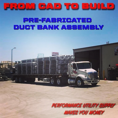 Pre-Fabricated Duct Banks courtesy of Performance Utility Supply. From CAD Drawings all the way to custom builds. PUS can design the perfect underground utility solution. #undergroundutilities #ductbank #