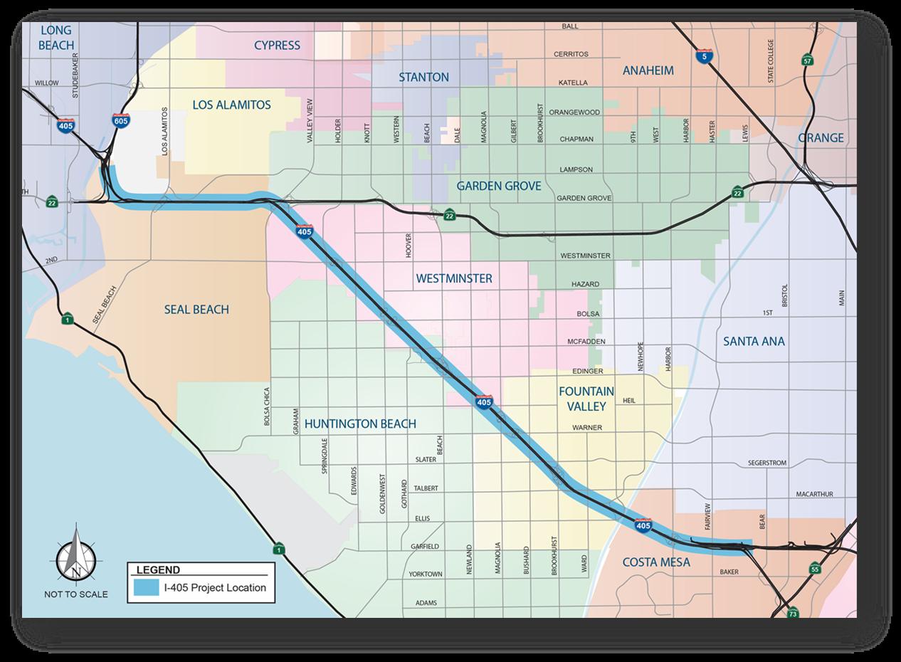 405 Improvement Project Map -