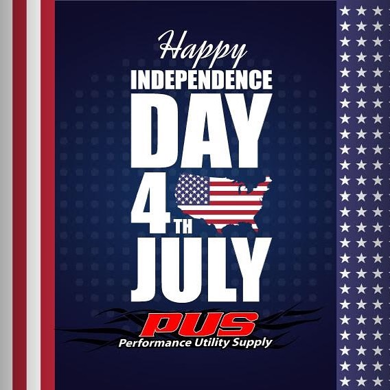 The Performance Utility Supply office will be closed the 4th and 5th of July in celebration of Independence Day. We'll be back at it Monday Morning ready to serve our customers' needs. We hope you all have a safe and happy 4th of July. #independence_day #happy4thofjuly