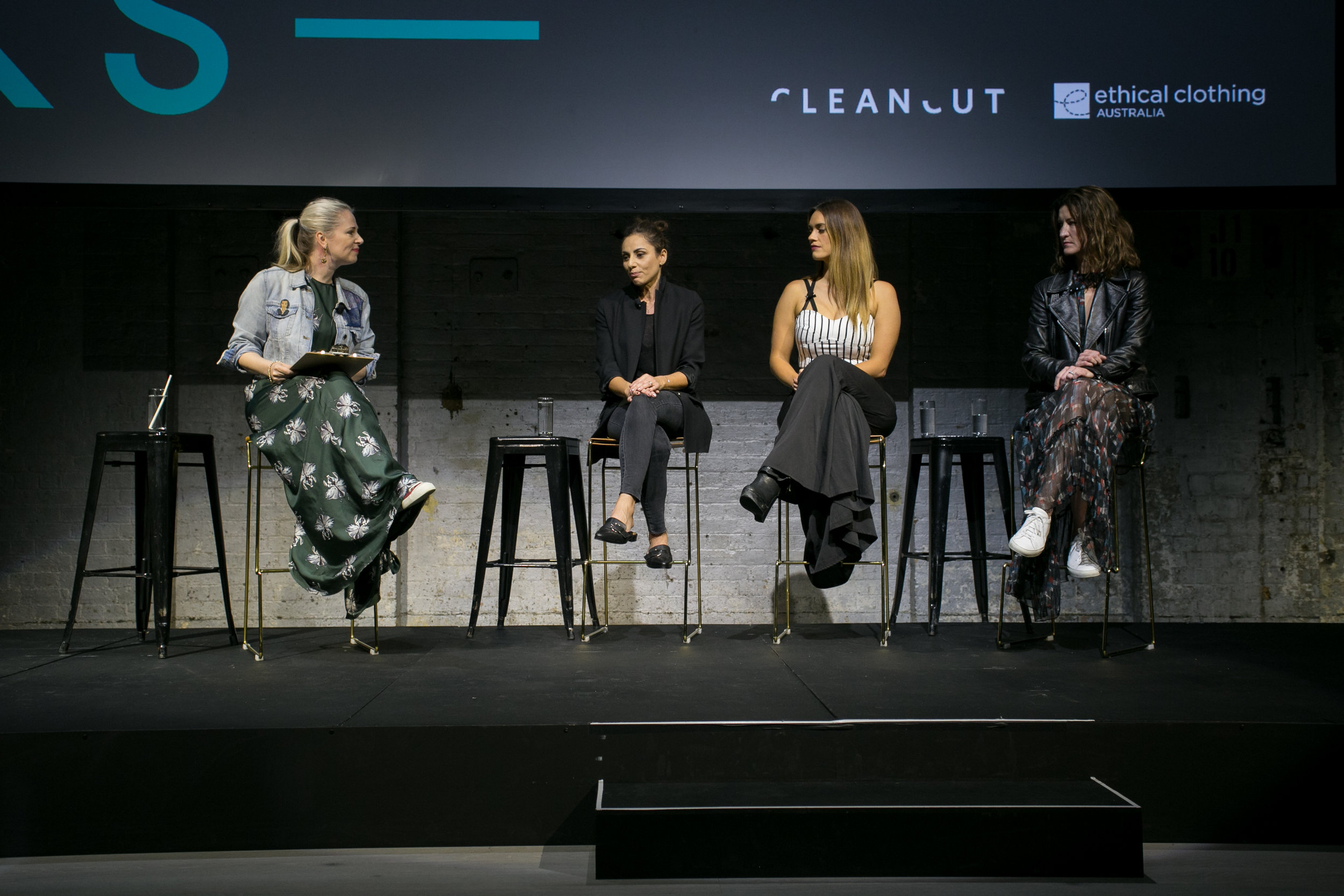 Panel Discussion at this year's FUTURE TALKS. From left, Clare Press, Margie Woods, Laura Wells and Gabrielle manning.