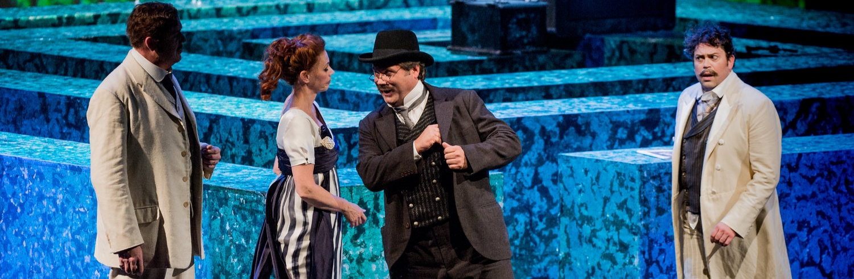 Salerio (The Merchant of Venice). Welsh National Opera with Sarah Castle, Mark Le Brocq and David Stout ©Robert Workman