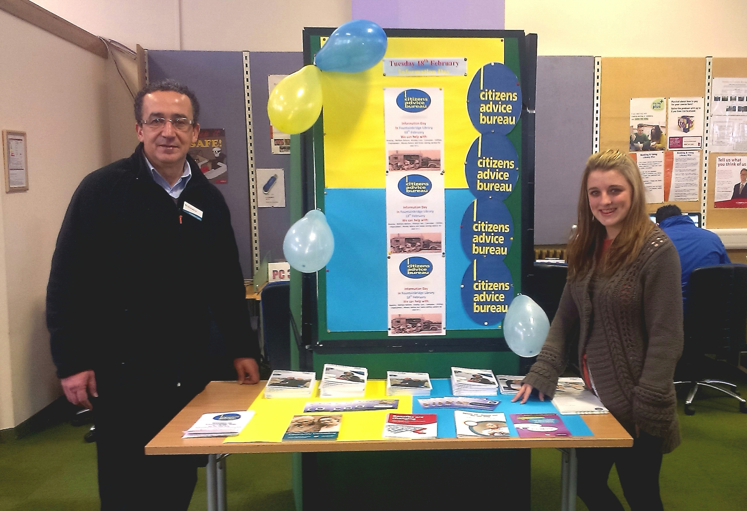 Joint information day with Fountainbridge Library & Gorgie/Dalry Bureau